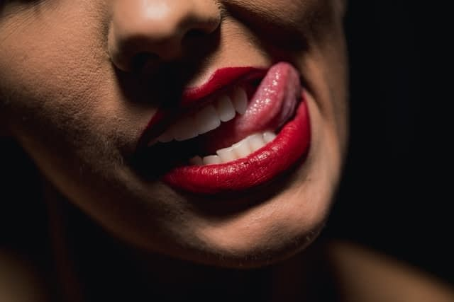 lip licking and dry lips