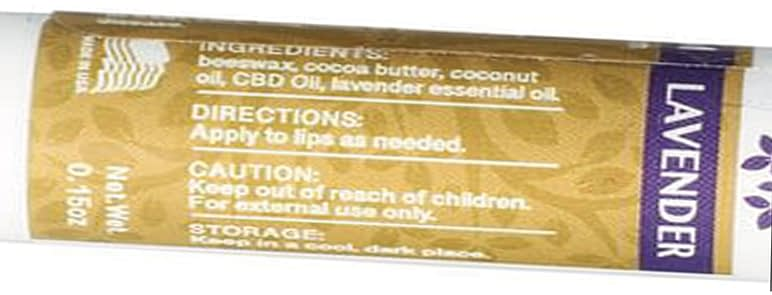 natural CBD lip balm